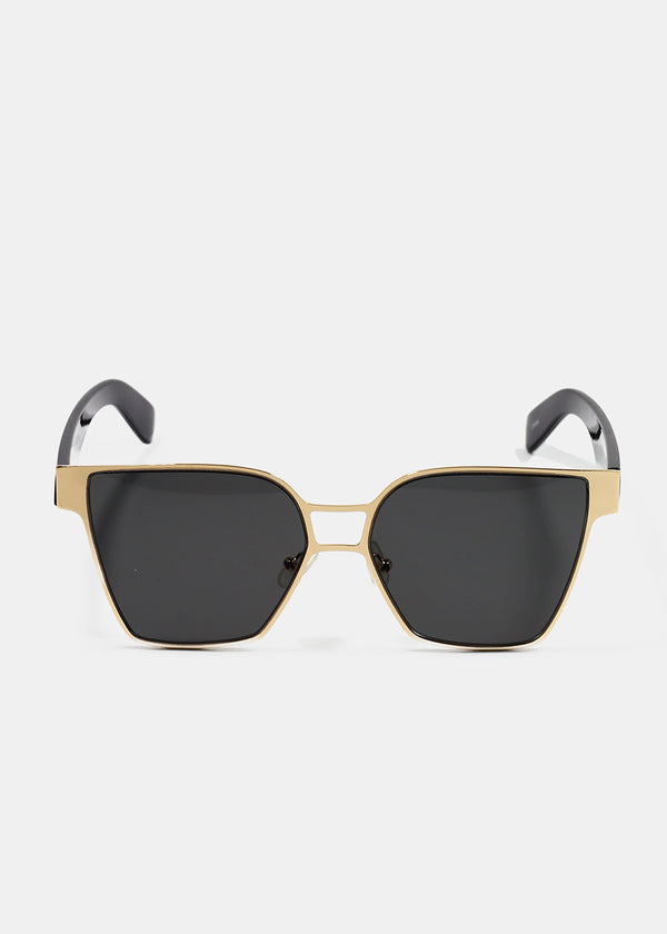 Gold Metal Frame Cat Eye Sunglasses