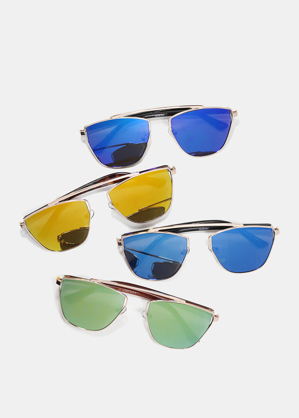 Gold Metal Frame Sunglasses