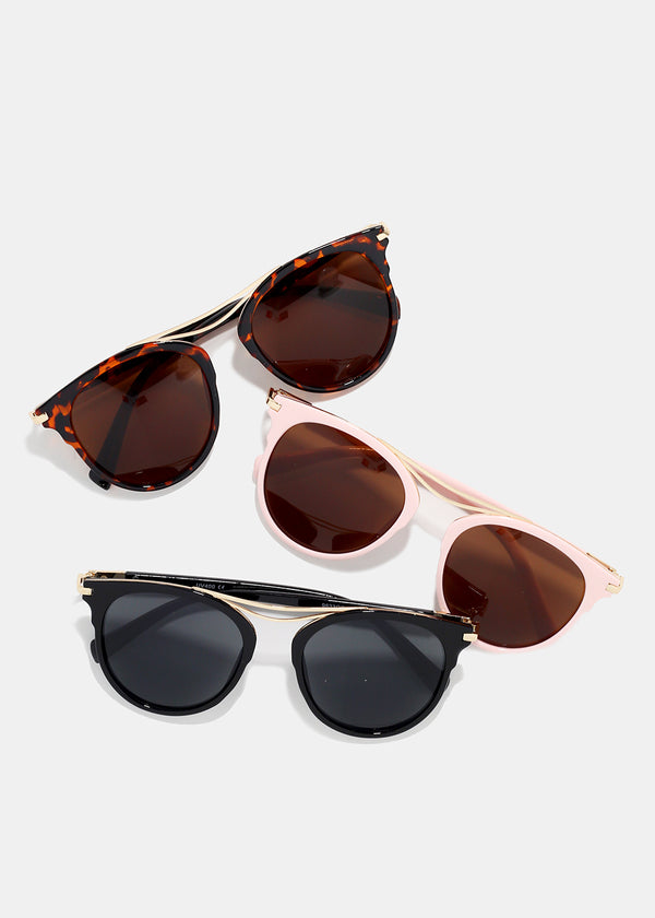 Gold Detail Cat Eye Sunglasses