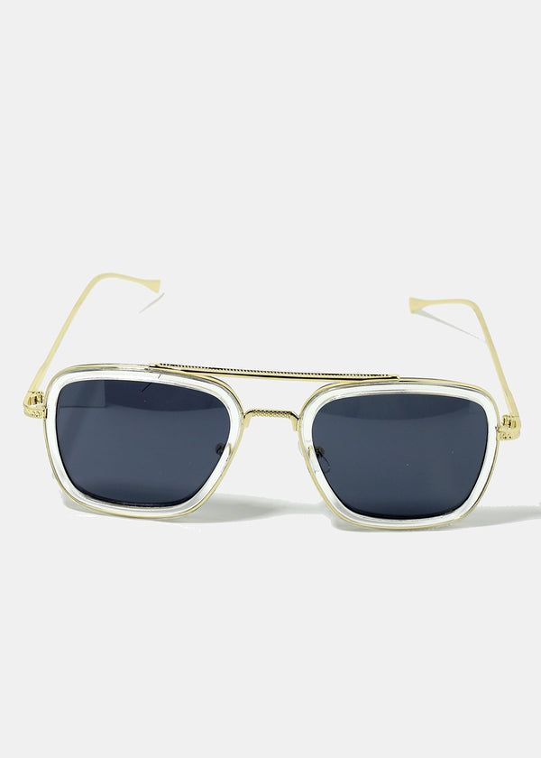 Gold Frame Square Sunglasses