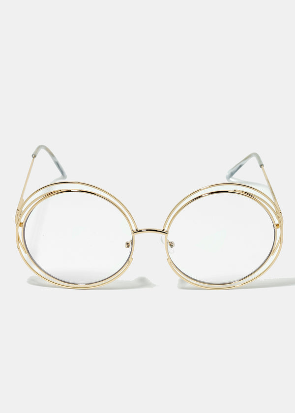Hipster Rounded Metal Glasses