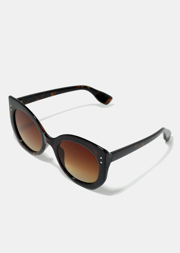 Cat Eye Thick Frame Sunglasses