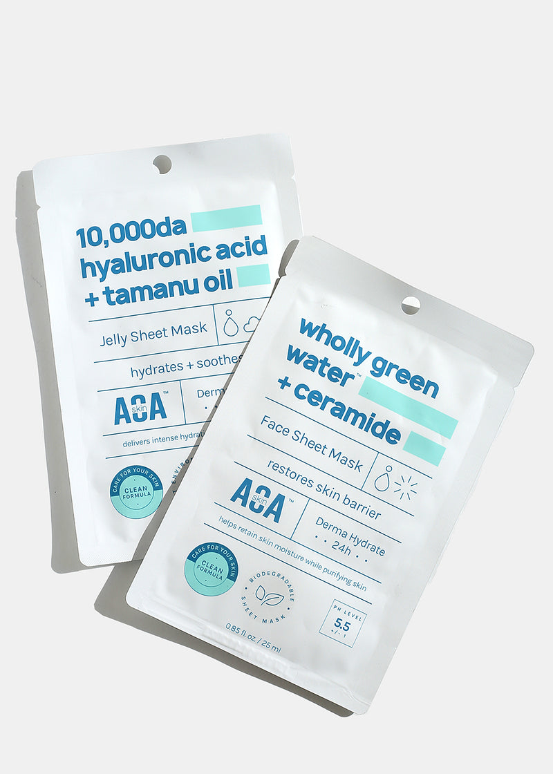 AOA Skin Wholly Green Water + Ceramide Sheet Mask