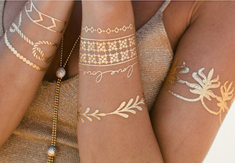 Metallic Tattoo-968