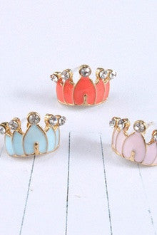 Princess Crown Earring Set (3 Pair)