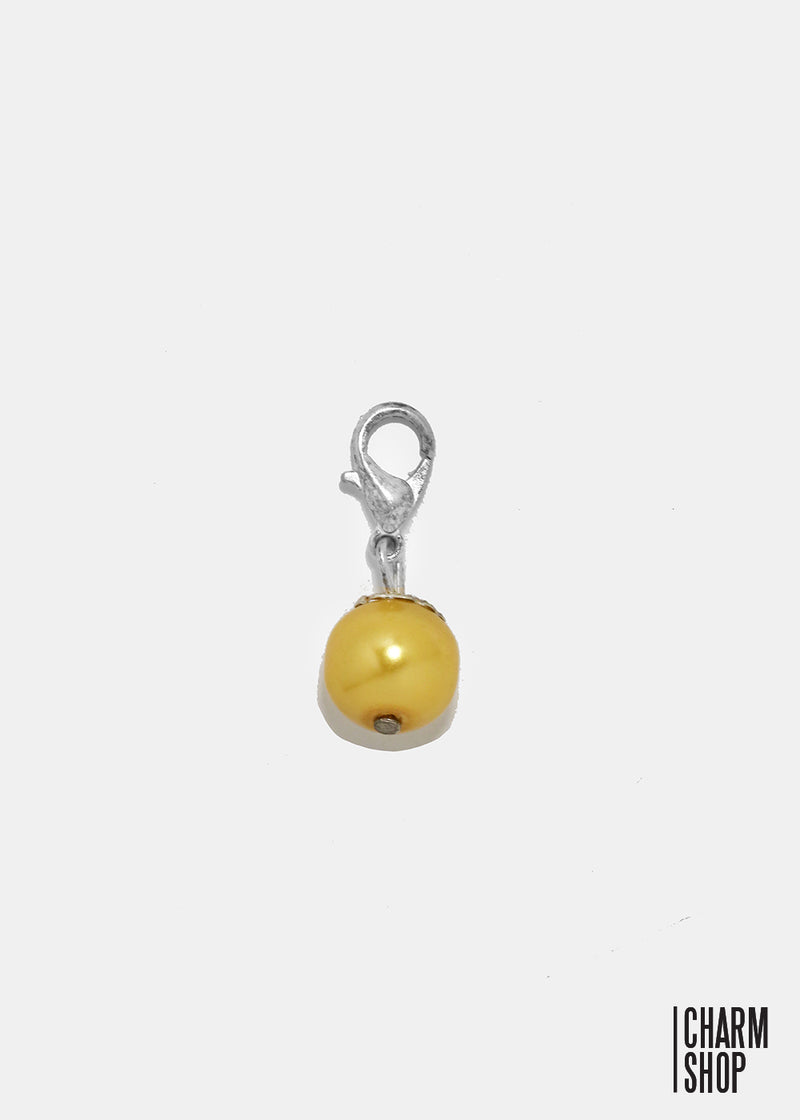 Gold Pearl Dangle Charm