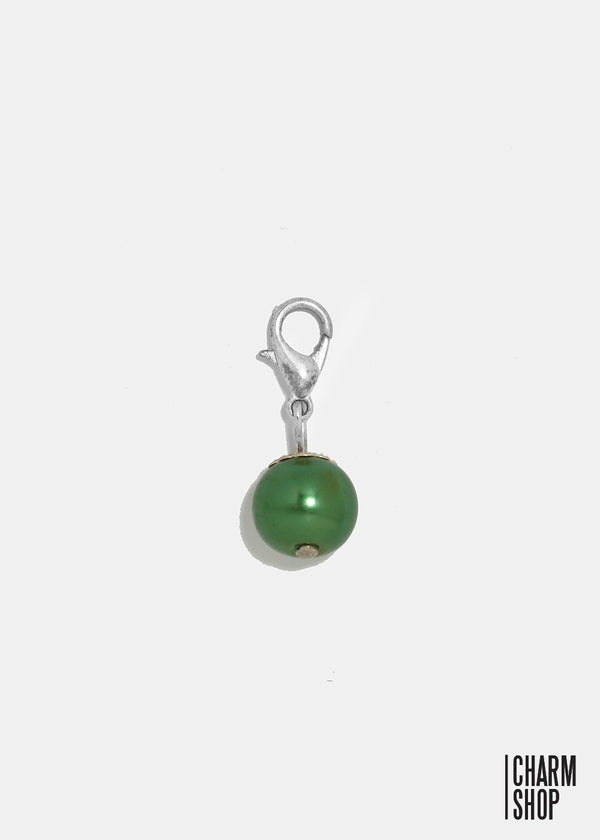 Dark Green Dangle Charm