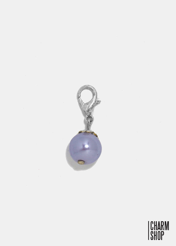 Light Purple Pearl Dangle Charm