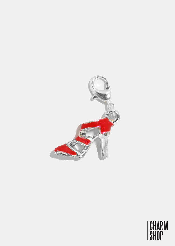 Red Striped Heel Dangle Charm