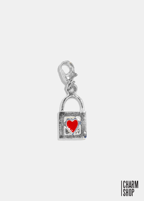Heart Lock Dangle Charm