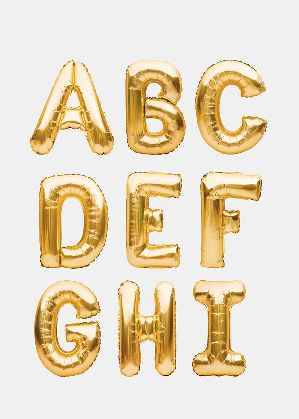 OKI Party Balloons- Gold Letters