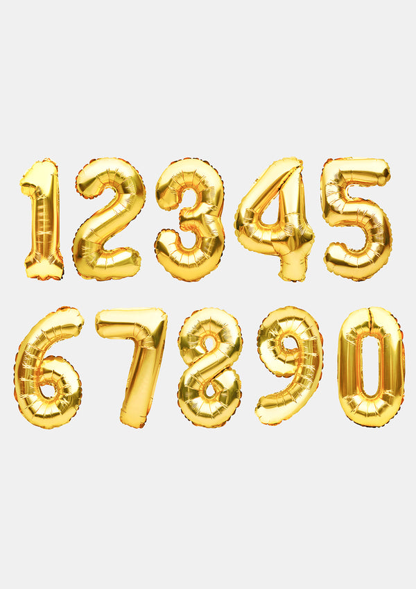 Miss A Party Balloons- Gold Numbers