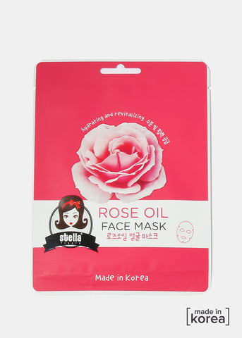 Rose Oil Sheet Face Mask