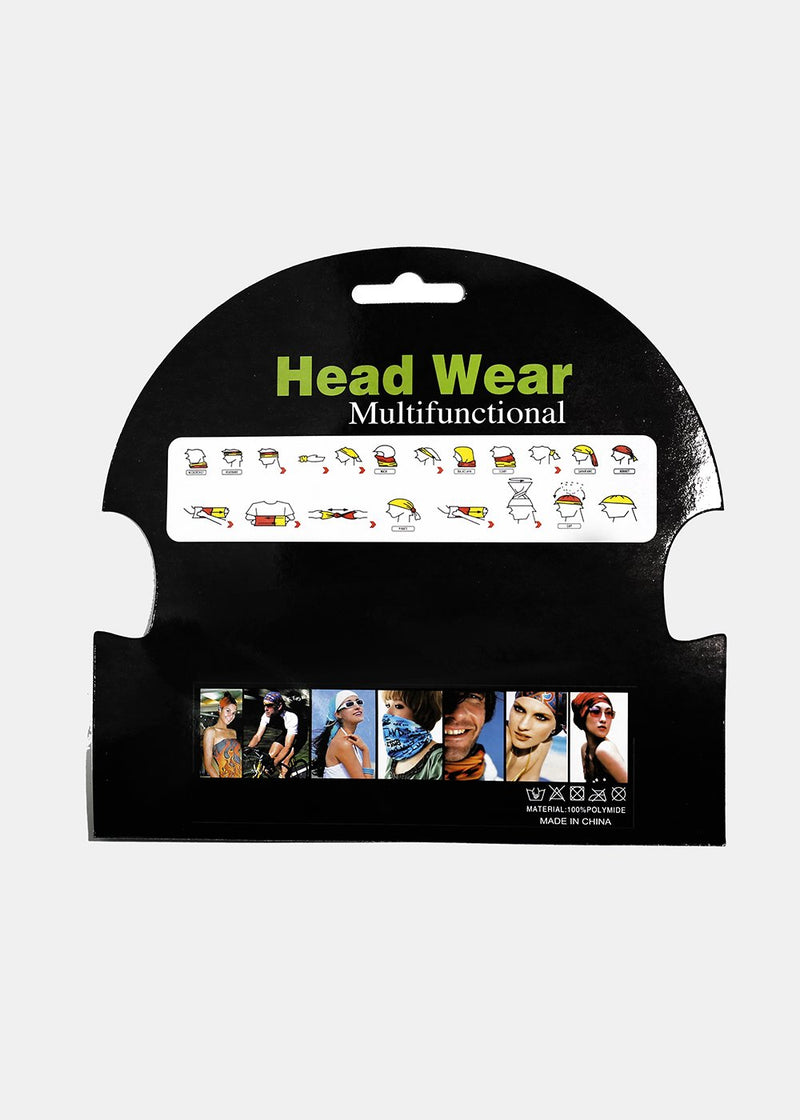 Solid Multi-Wear Headband & Face Covering