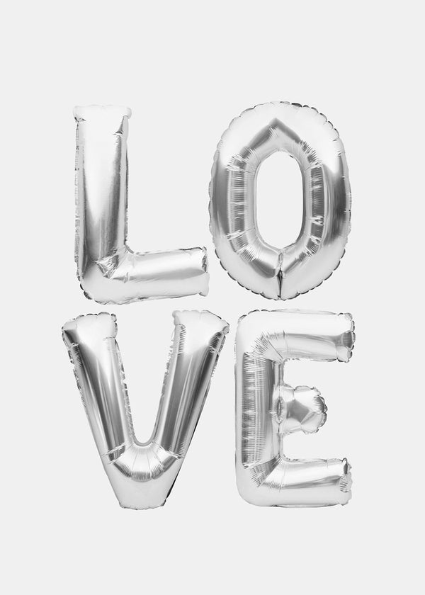 Miss A Party Balloons- Silver Letters