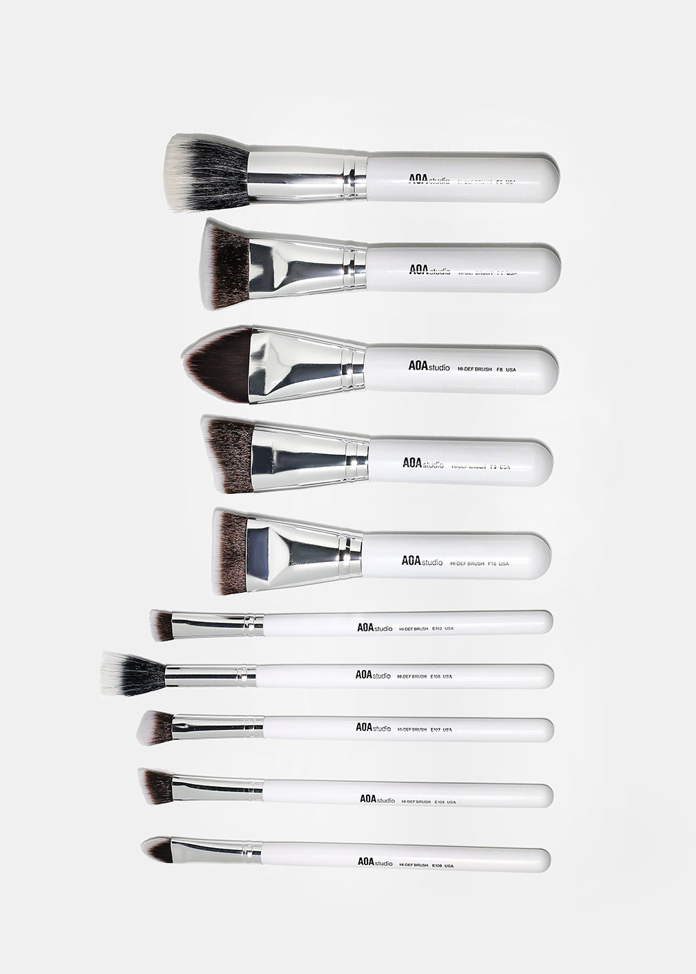 10-Piece Sculpting Brush Set + Brush Roll