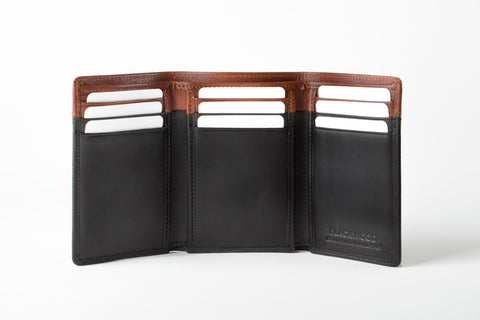 BLACKWOOD TRIFOLD 2 COLOR COMBO WALLET