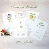 2017 Trowel and Paintbrush Calendar - Herbs and Edible Flowers - Watercolor images by Kathleen Maunder