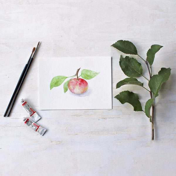 Watercolor print of apple painting - Watercolor artist Kathleen Maunder