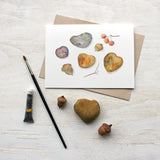 Autumn nature collection note cards featuring a watercolor painting by Kathleen Maunder