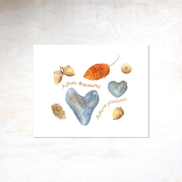 Nature collection print by Kathleen Maunder of trowelandpaintbrush.com