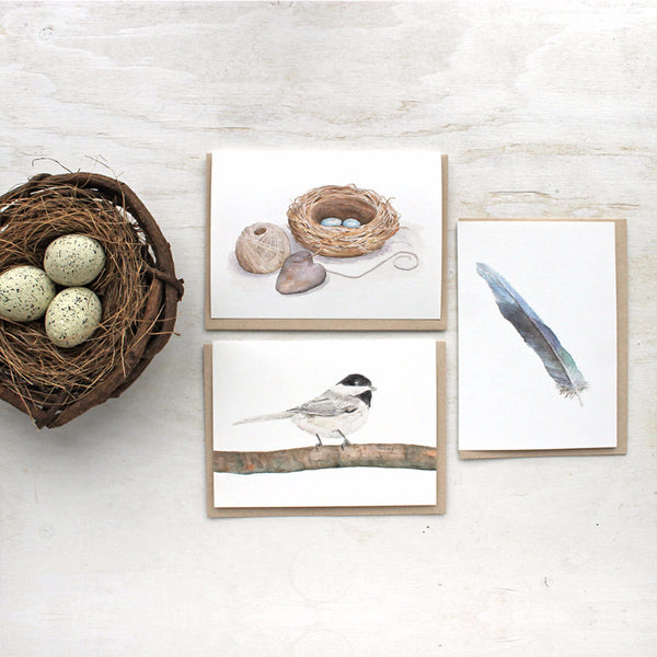 Note cards for bird lovers featuring watercolors by Kathleen Maunder