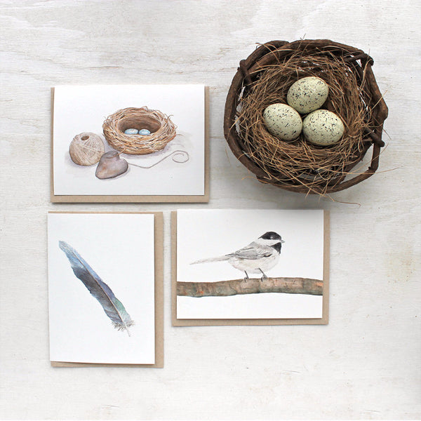 Bird note cards by Kathleen Maunder, trowelandpaintbrush