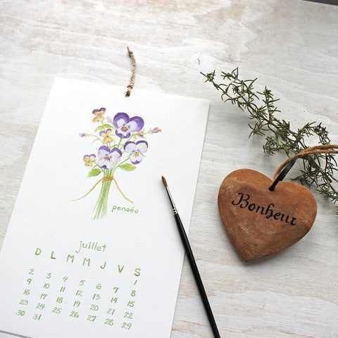 Calendrier 2017 - Herbes and Fleurs Comestibles