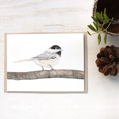Chickadee Note Card Set