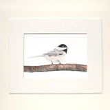 Chickadee Watercolor Painting Print