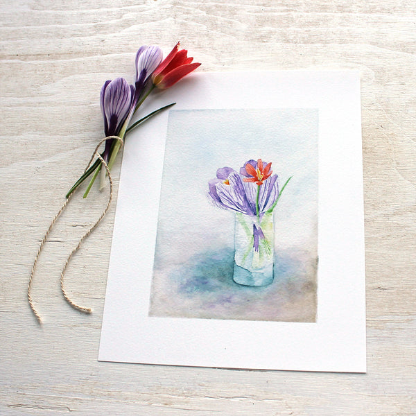 Spring bouquet in watercolour by Kathleen Maunder, Trowel and Paintbrush