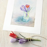 Tiny spring bouquet by watercolor artist Kathleen Maunder