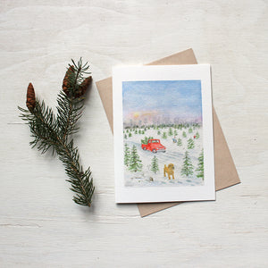 Cutting the Christmas Tree - Note Cards