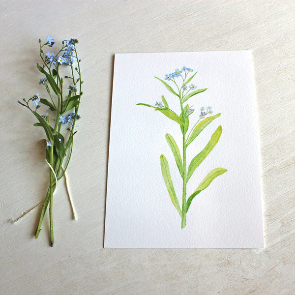 Forgetmenot print by artist Kathleen Maunder of Trowel and Paintbrush