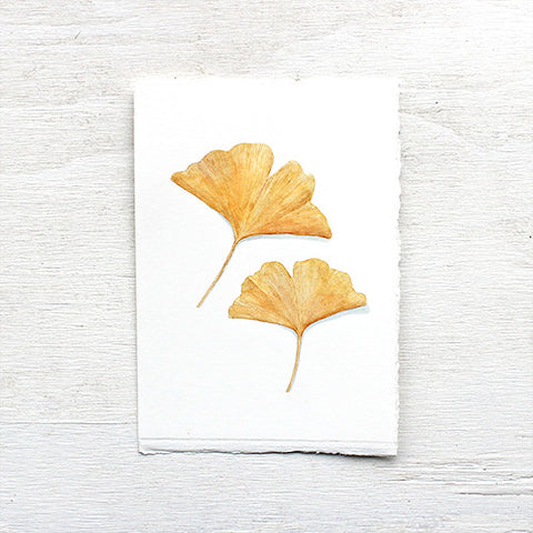 Original Watercolor - Ginkgo Leaf