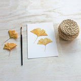 Ginkgo Leaf Watercolor Print