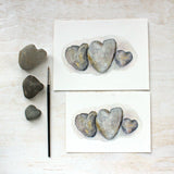 Heart Rocks Watercolor Print