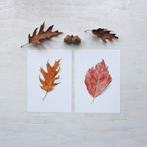 Set of Two Autumn Leaf Prints