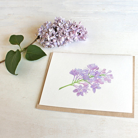Lilac Sprig Note Cards