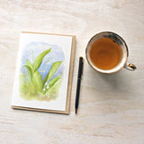 Lily of the valley watercolour note cards by Kathleen Maunder
