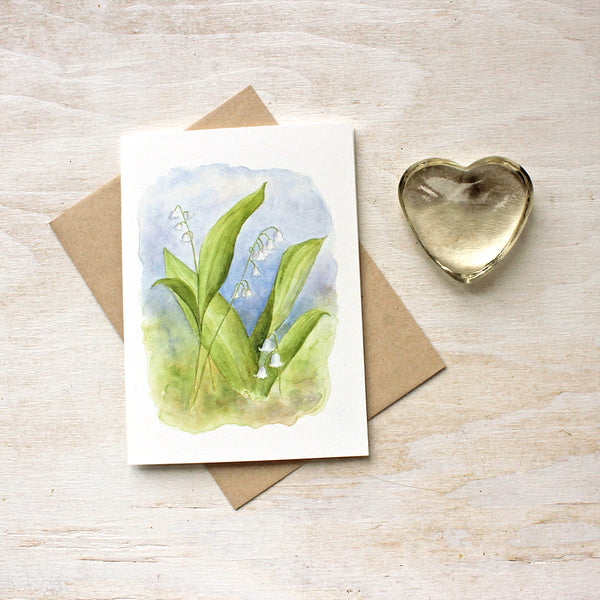 Lily of the valley painting by Kathleen Maunder - Note cards available at Trowel and Paintbrush