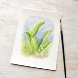 Lily of the valley watercolor art print by Kathleen Maunder - Available at Trowel and Paintbrush