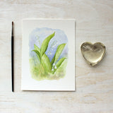 Lily of the valley watercolor art print by Kathleen Maunder