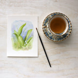 Lily of the valley art print by watercolor artist Kathleen Maunder