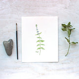 Print of mint watercolor painting by Kathleen Maunder, trowelandpaintbrush