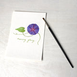 Art print featuring a watercolor painting of a morning glory by Kathleen Maunder