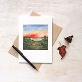 Sunset Note Cards - Watercolor by Kathleen Maunder of Trowel and Paintbrush