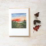 Muskoka Sunset Watercolor Note Cards by Kathleen Maunder