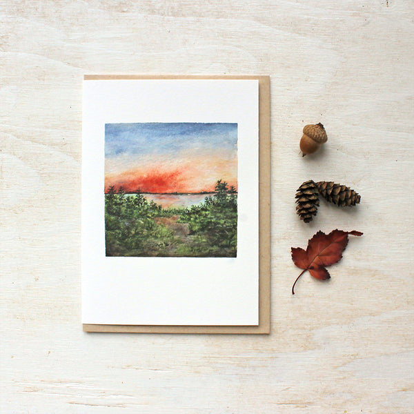 Sunset Note Cards - Landscape Watercolor by Kathleen Maunder of Trowel and Paintbrush