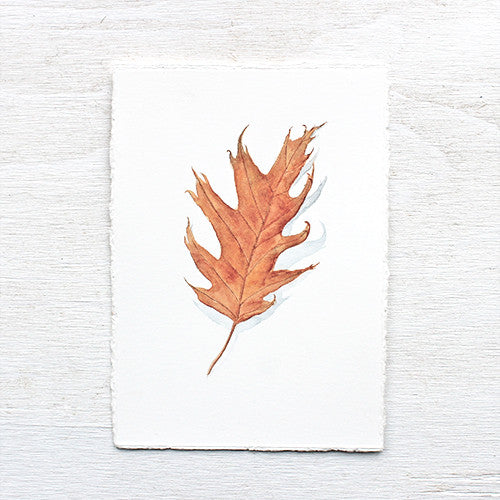 Original Watercolor - Oak Leaf